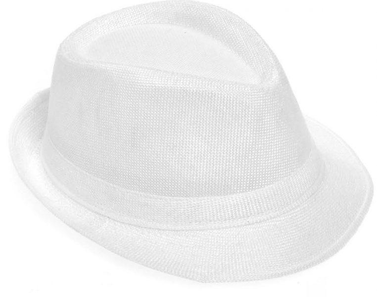Καπέλο ψάθινο λευκό για βαπτιστικό κοστούμι αγοριού