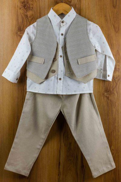 Κοστούμι-καλοκαιρινό--βάπτισης-για-αγόρι-Amour