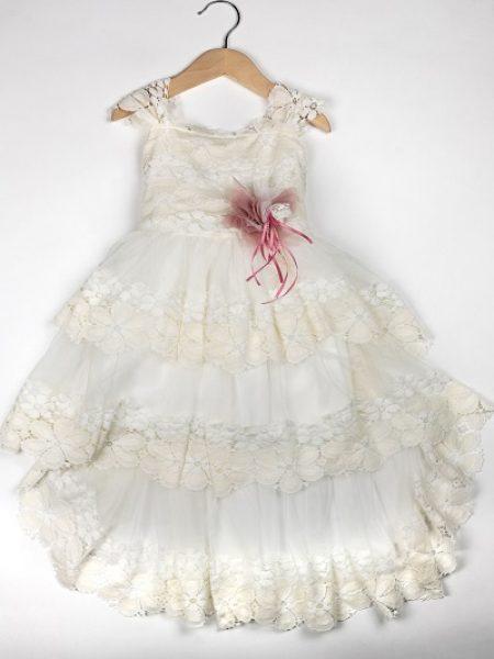 Φόρεμα καλοκαιρινό βάπτισης για κορίτσι Alix