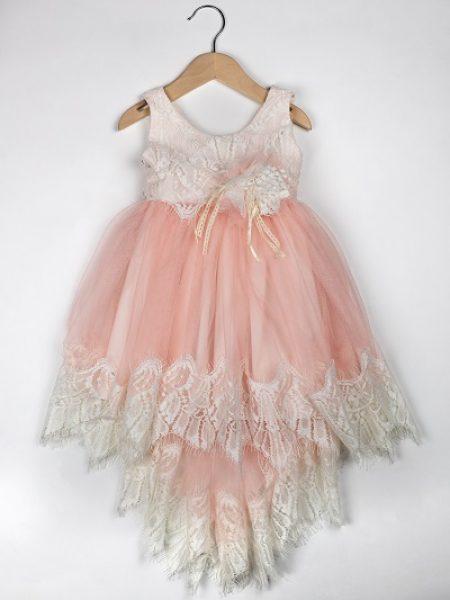 Φόρεμα καλοκαιρινό βάπτισης για κορίτσι Clara (3)
