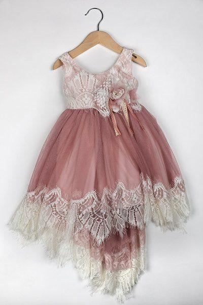 Φόρεμα καλοκαιρινό βάπτισης για κορίτσι Clara