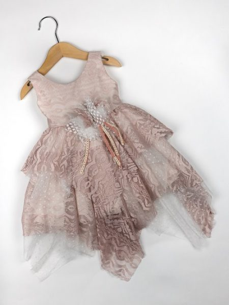 Φόρεμα καλοκαιρινό βάπτισης για κορίτσι Emeline