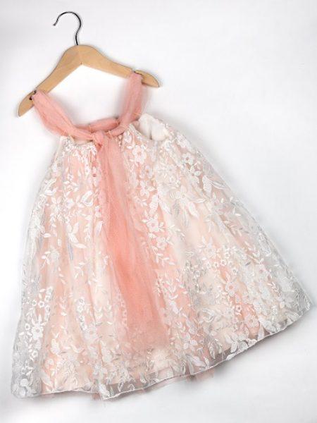 Φόρεμα καλοκαιρινό βάπτισης για κορίτσι Eva (2)