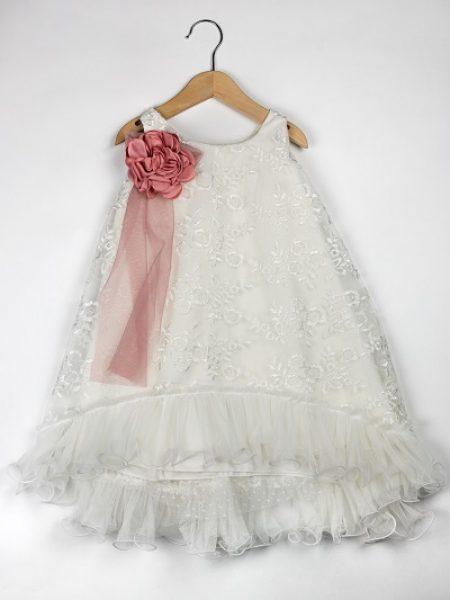 Φόρεμα καλοκαιρινό βάπτισης για κορίτσι Karine