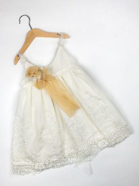 Φόρεμα καλοκαιρινό βάπτισης για κορίτσι Leila