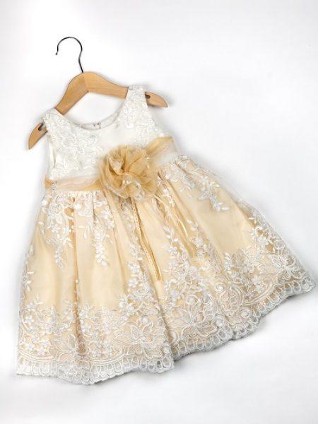 Φόρεμα καλοκαιρινό βάπτισης για κορίτσι Shasa (2)