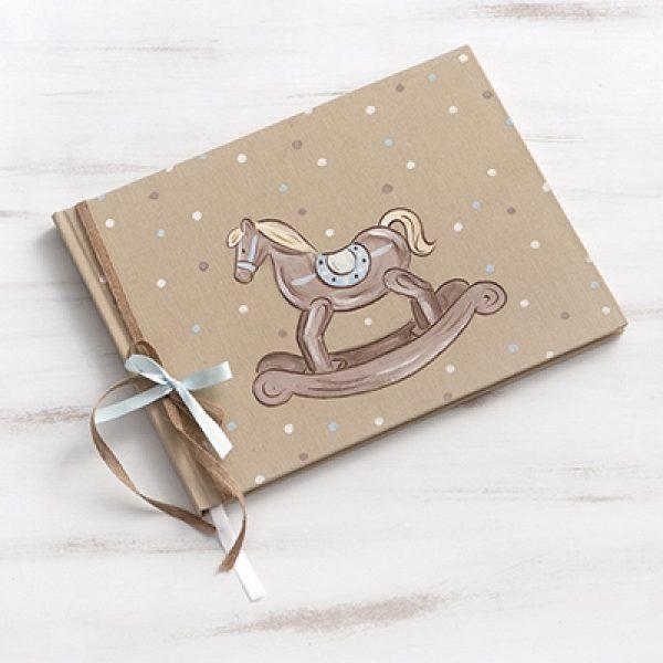 βιβλίο-ευχών-βάπτισης-καρουζέλ-αλογάκι