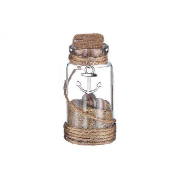 γυαλινο μπουκαλι αγκυρα ασημι2