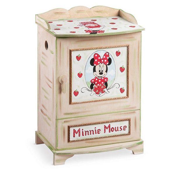 κουτί-βάπτισης-κομοδίνο-με-συρτάρι-minnie-φράουλα