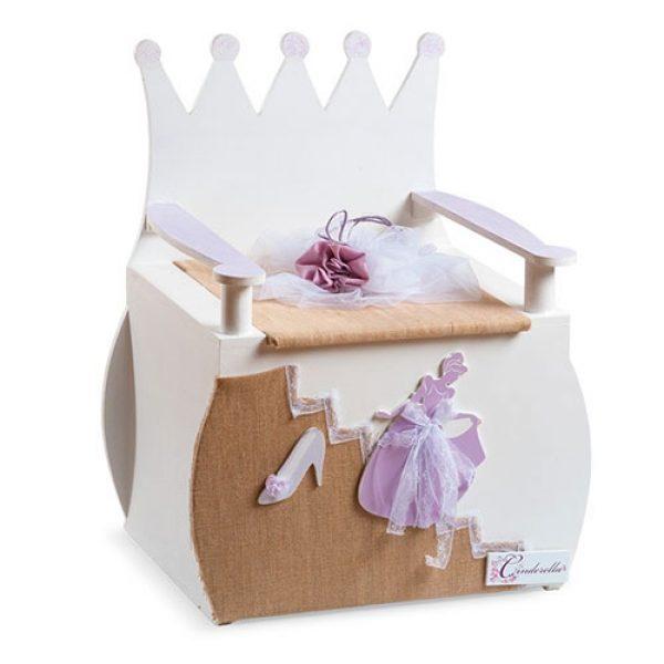 κουτί-βαπτιστικών-cinderella-πολυθρονίτσα-θρόνος