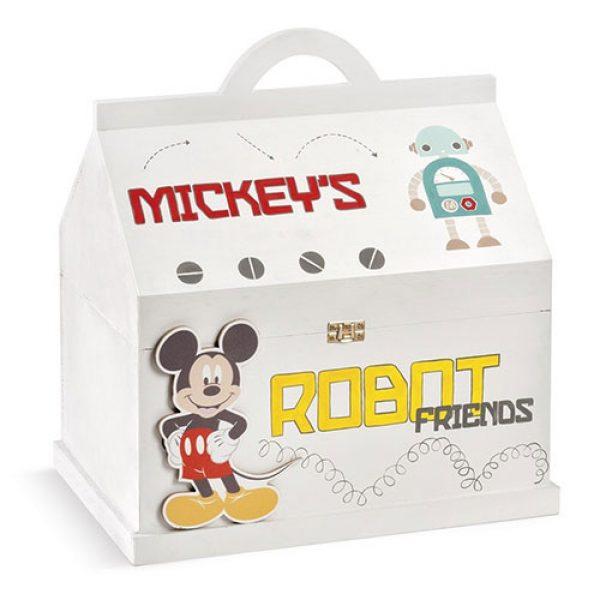 κουτί-βαπτιστικών-mickey-λευκή-βαλίτσα