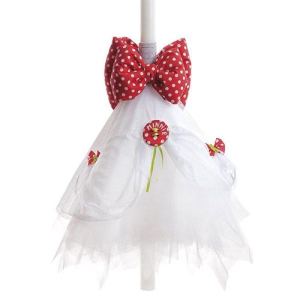 λαμπάδα-βάπτισης-κερί-minnie-φράουλα