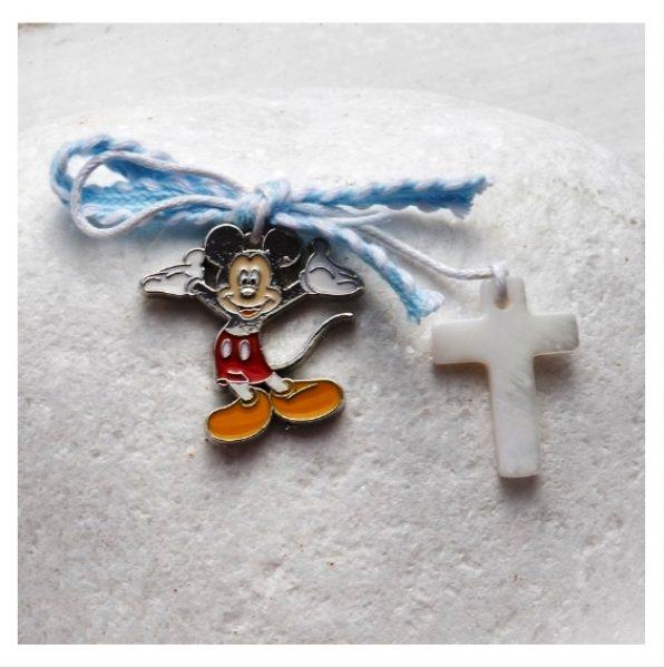 μαρτυρικό βάπτισης Μίκυ σταυρός καρφίτσα