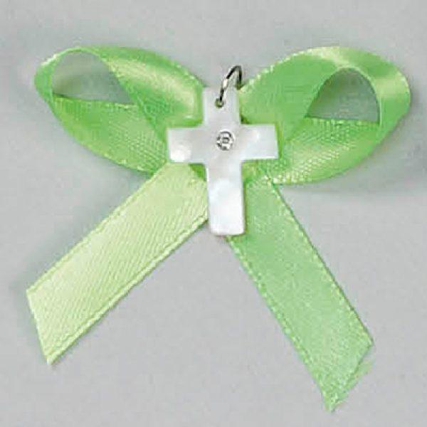 μαρτυρικό βάπτισης σταυρουδάκι φίλντισι πράσινο καρφίτσα