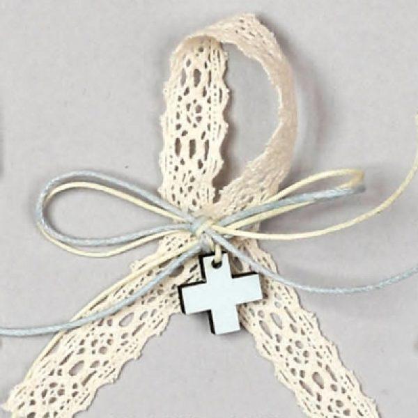 μαρτυρικό βάπτισης σταυρός ξύλο δαντέλα 4