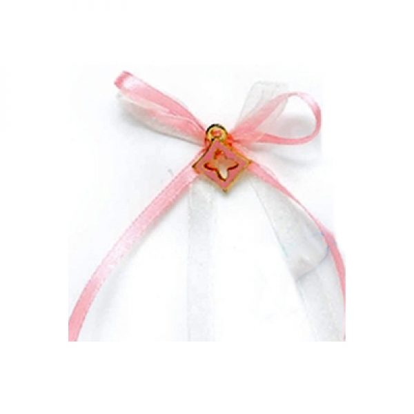 μαρτυρικό βάπτισης σταυρός ροζ 8