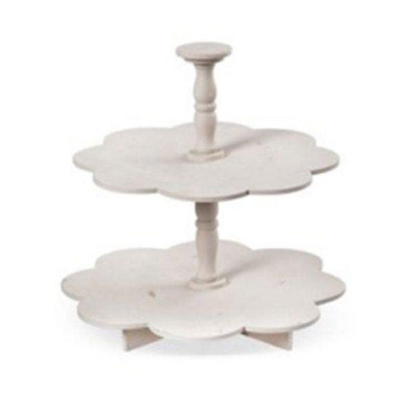 ξύλινη-αντικέ-τουρτίερα-μαργαρίτα-διπλή