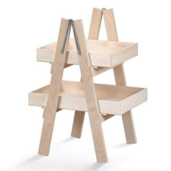 ξύλινη-λευκή-&-natural-σκαλιέρα-διπλή
