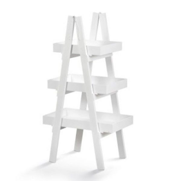 ξύλινη-λευκή-&-natural-σκαλιέρα-τριπλή