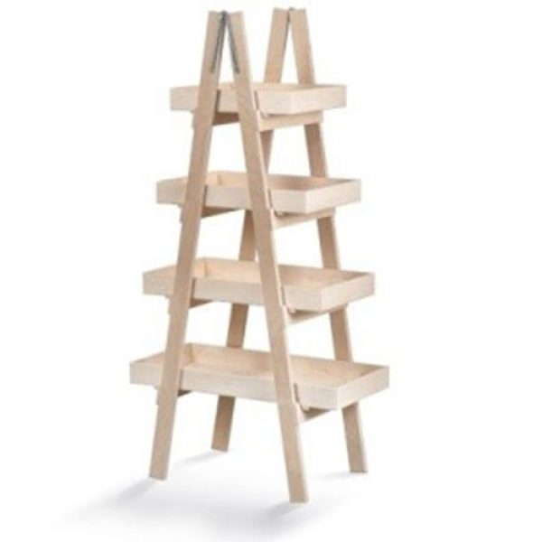 ξύλινη-natural-σκαλιέρα-τετραπλή