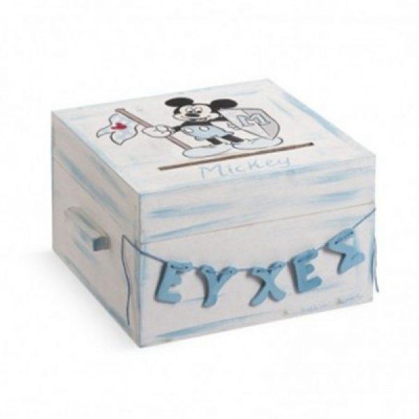 ξύλινο-κουτί-ευχών-βάπτισης-mickey