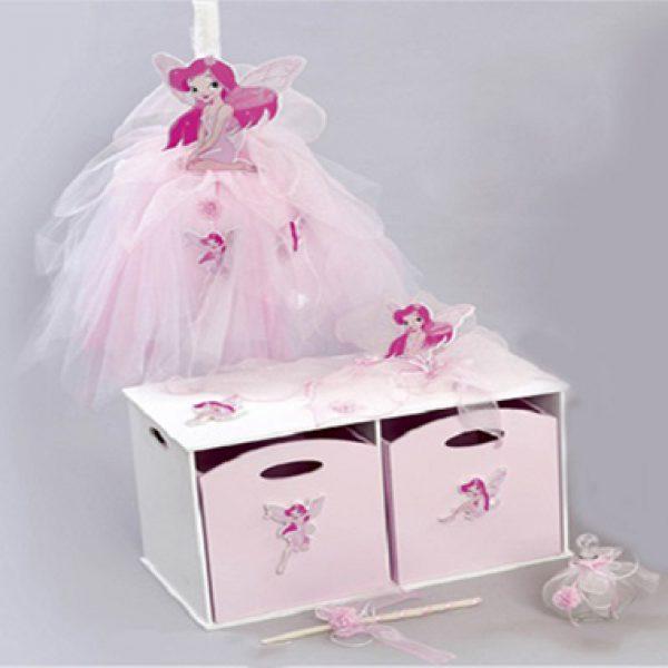 σετ βαπτισης(με κουτι παιχνιδιων) με θεμα νεραιδα