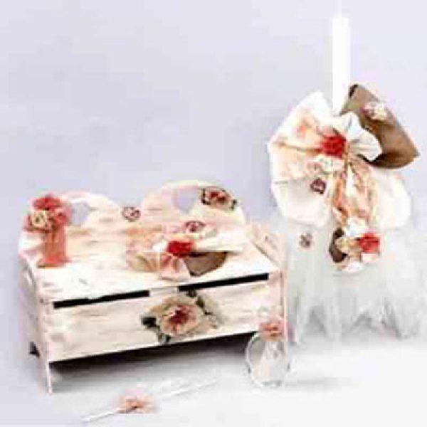 Σετ-Βάπτισης-vintage-(με-παγκάκι)-διακοσμημένο-με-τριαντάφυλλα