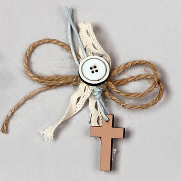 μαρτυρικό βάπτισης σταυρός ξύλο δαντέλα 5
