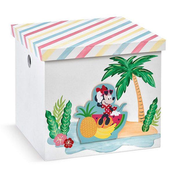 κουτί-βαπτιστικών-κύβος-minnie-tropical