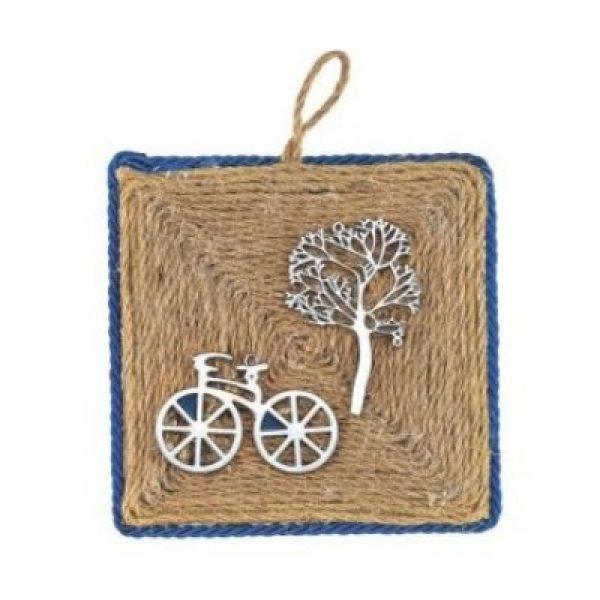 ξυλινο καδρακι ποδηλατο-δενδρο