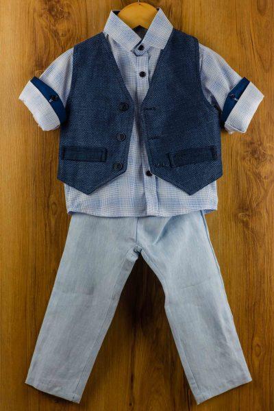 Κοστούμι-καλοκαιρινό--βάπτισης-για-αγόρι-Anatole
