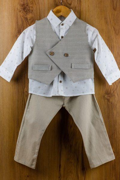 Κοστούμι καλοκαιρινό βάπτισης για αγόρι Apollinaire