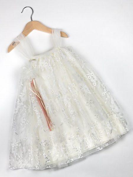 Φόρεμα καλοκαιρινό βάπτισης για κορίτσι Eva
