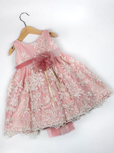 Φόρεμα καλοκαιρινό βάπτισης για κορίτσι Wenly (2)