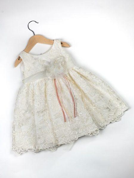 Φόρεμα καλοκαιρινό βάπτισης για κορίτσι Wenly1