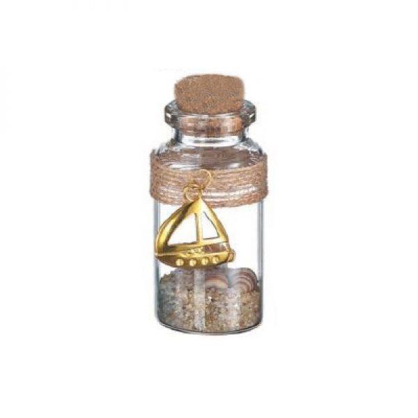 γυαλινο μπουκαλι χρυσο καραβι
