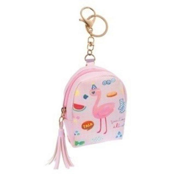 Πορτοφολάκι-μπρελόκ-Flamingo