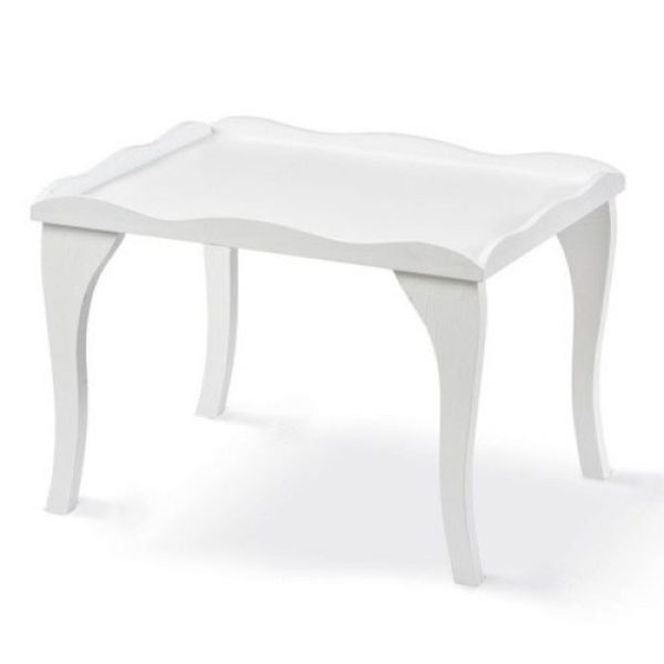 Ξύλινο-τραπεζάκι-λευκό